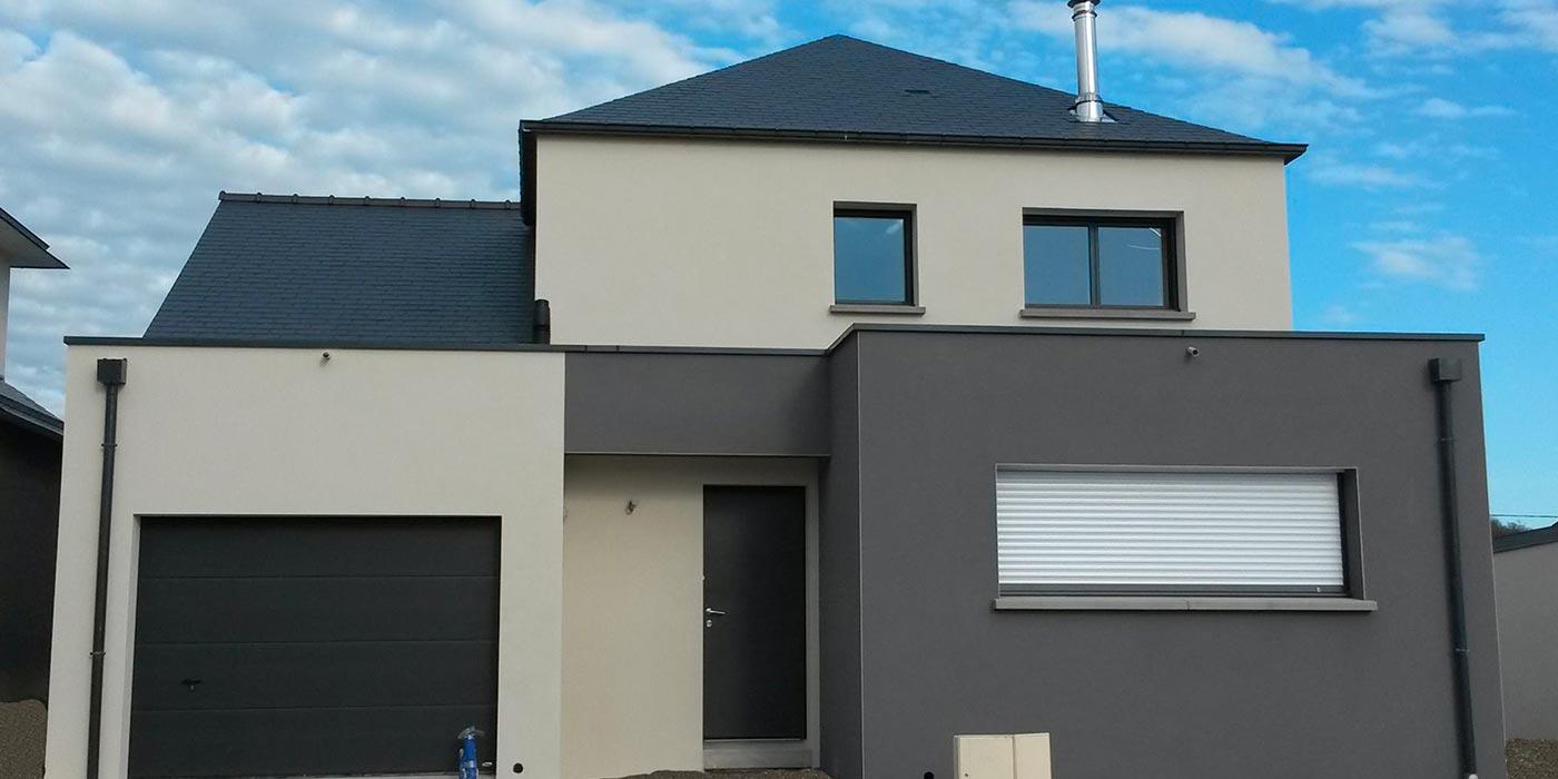 Maison moderne à Liffré (35)
