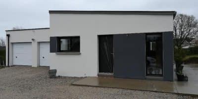 Maison moderne monopente à Serent (56)