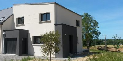 Maison monopente à Montfort sur Meu (35)