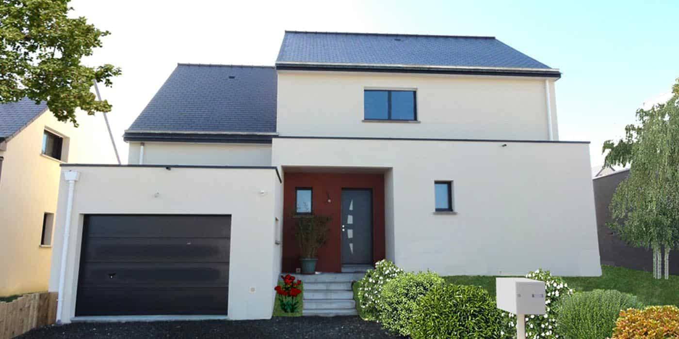 Maison contemporaine à Noyal-sur-Vilaine (35)